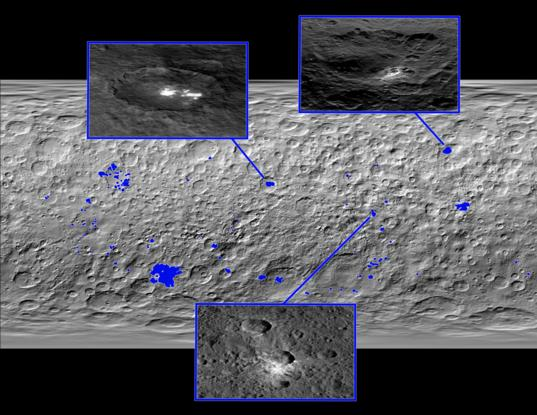Bright areas on Ceres