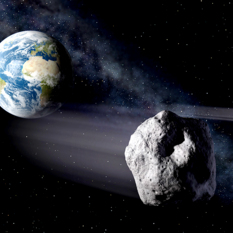 Artist's concept of near-Earth asteroids