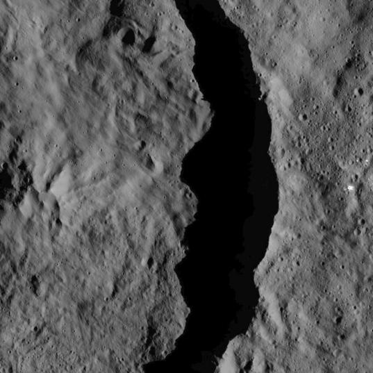 Rim of Datan crater