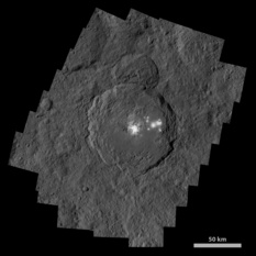 High-resolution mosaic of Occator crater, Ceres