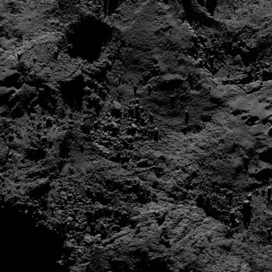 Varied terrain on comet 67P