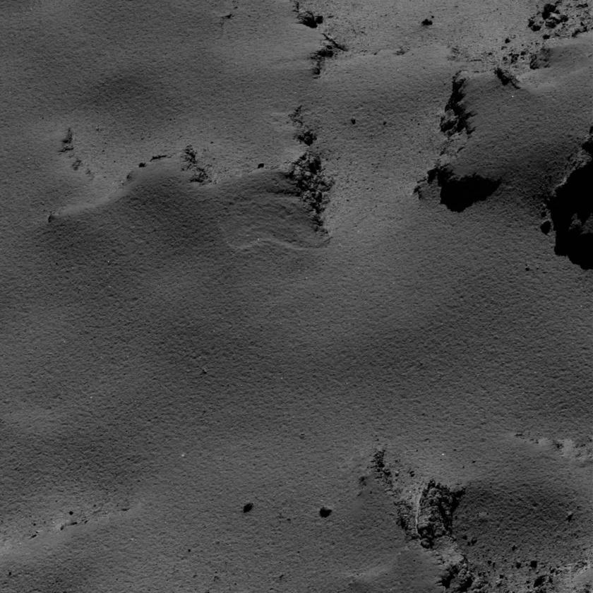 Granular plains on comet Churyumov-Gerasimenko