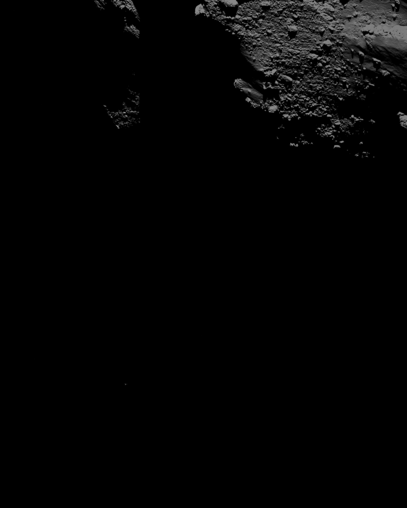 Philae descending