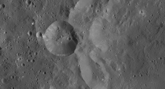 Crater on the western rim of Azacca Crater