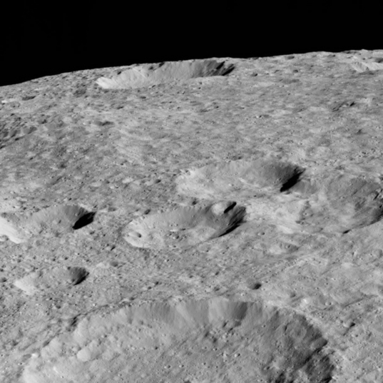Rao Crater on the limb