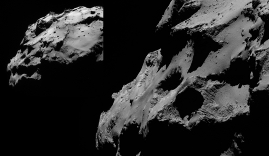 Views of the Rosetta landing site (low sun)