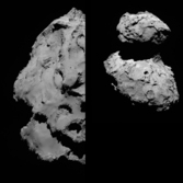 Views of the Rosetta landing site (high sun)
