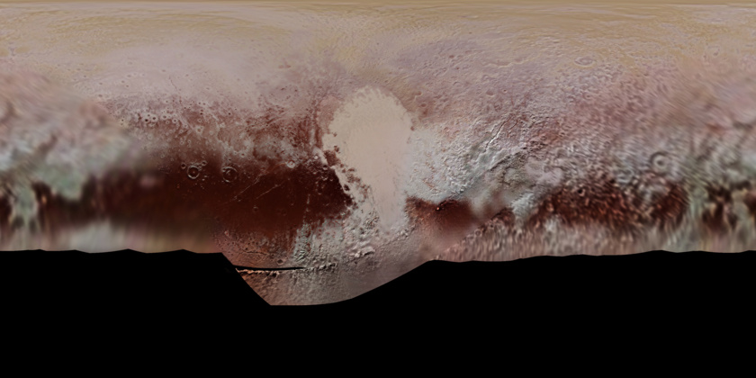 Color map of Pluto