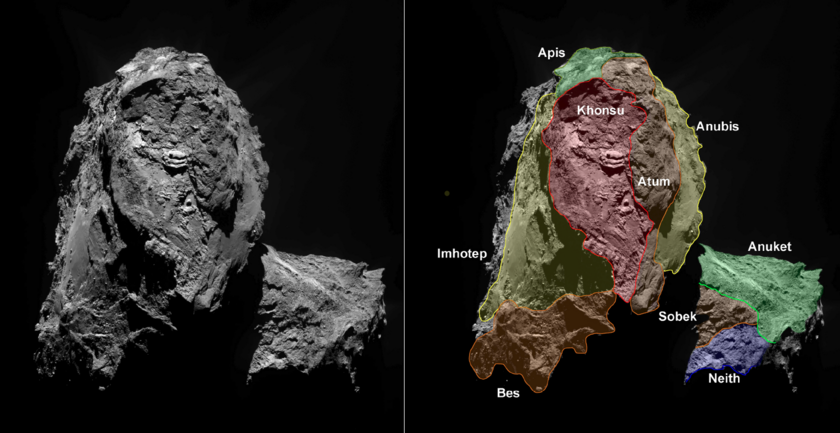 Southern hemisphere of Comet 67P (corrected)