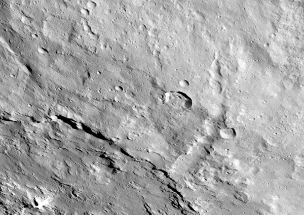 Urvara Crater and Pongal Catena