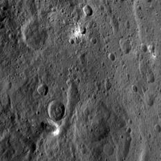 Ahuna Mons and surroundings