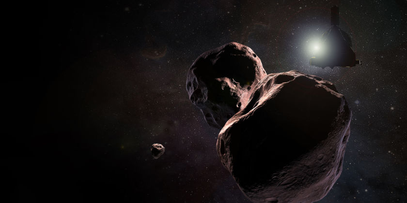 Artist's impression of New Horizons encountering 2014 MU69