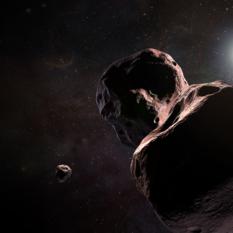 Artist's impression of New Horizons encountering 2014 MU69