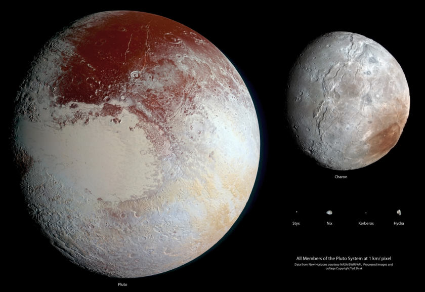 The Pluto system at 1 km/pixel