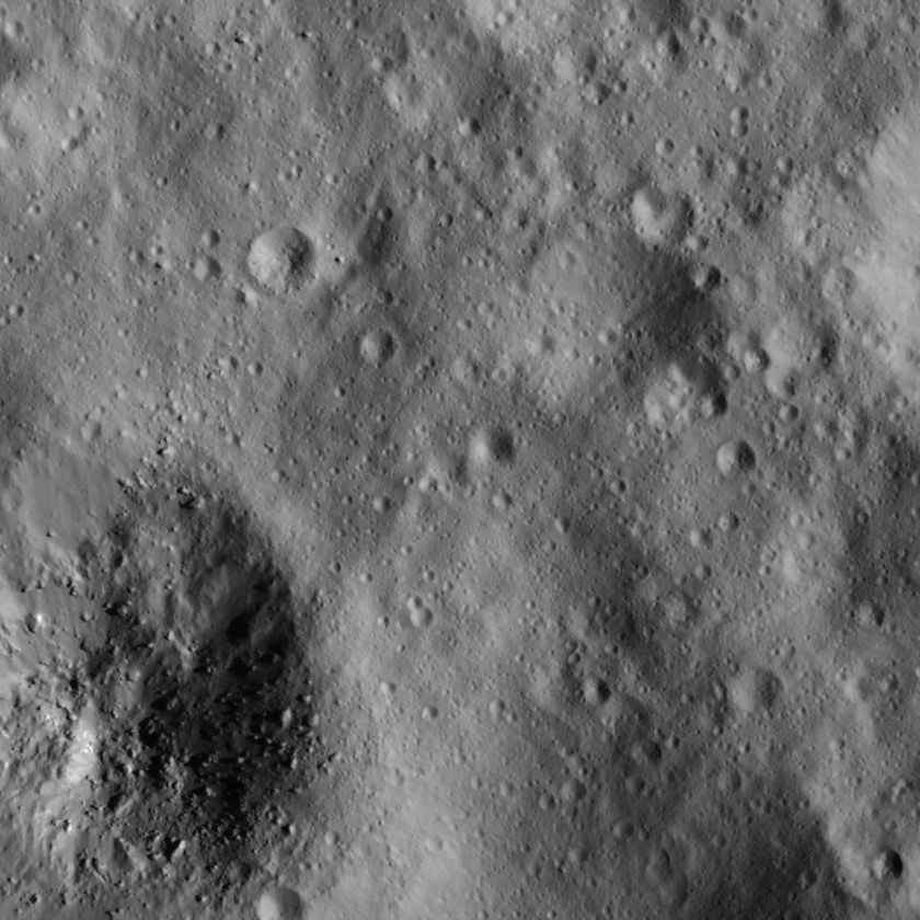 Terrain north of Occator Crater