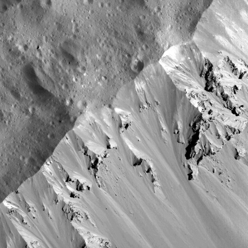 North wall of Occator Crater