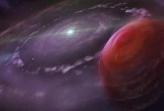 Artist's impression of a giant planet in a protoplanetary disk