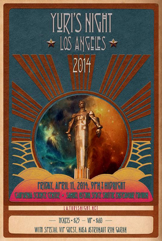 Yuri's Night LA 2014 poster