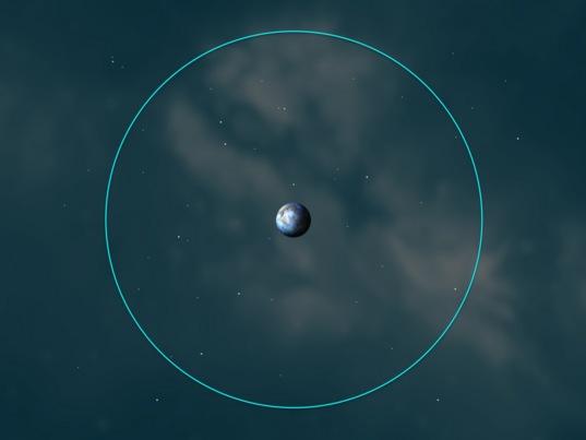 Dawn's survey orbit at Ceres