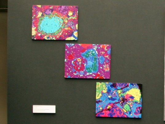 Meteorite chemical data as art