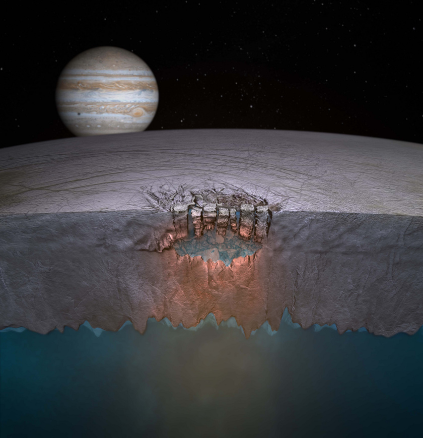Artist's concept of Europa's