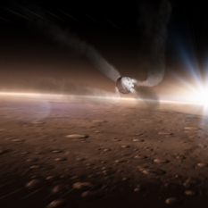 SpaceX's Red Dragon Entering the Martian Atmosphere