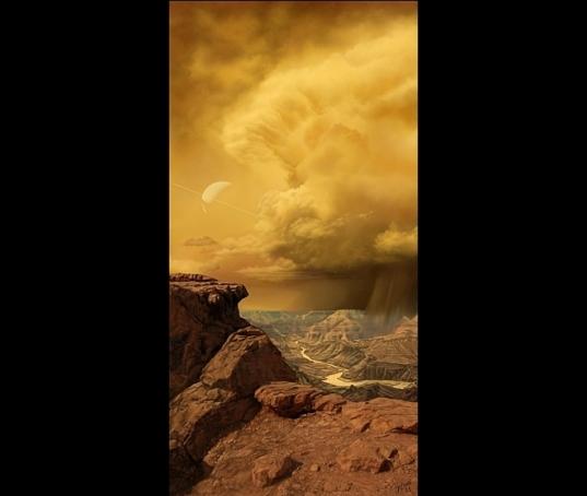 """""""Titan's Southern Summer"""" by Marilynn Flynn"""