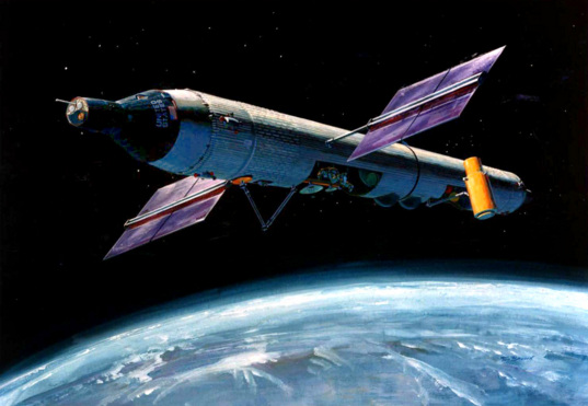 Artist's concept of the 1960s Manned Orbiting Laboratory (MOL)