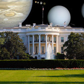 White House with Solar System