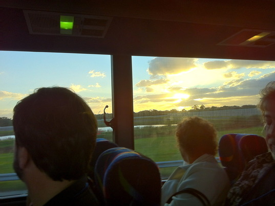 On The Bus To The Launch Site