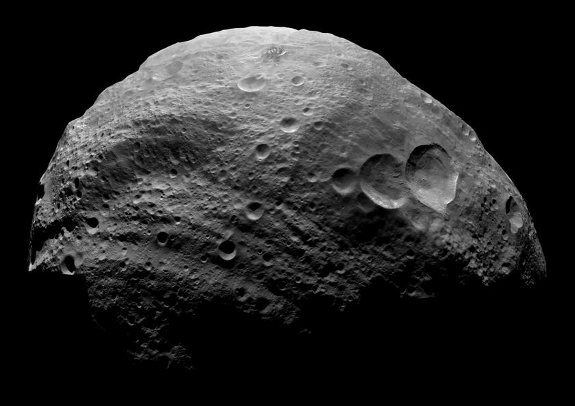 Mosaic of the asteroid Vesta from the Dawn spacecraft