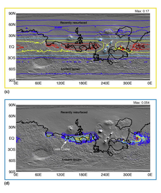 Effect of climate on early Mars surface liquid water availability, assuming a snowmelt water source