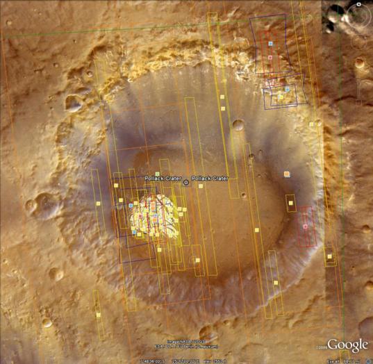 Google Mars: Pollack Crater