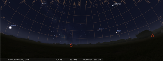 14 July: Mars and Spica getting really close