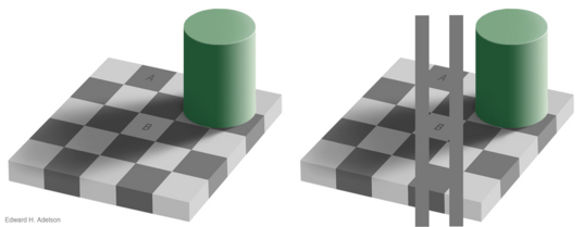"The ""checkershadow"" illusion"