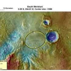 Potential MSL landing site in south Meridiani