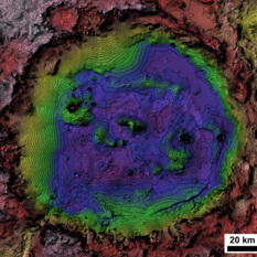 A topo map of Holden crater