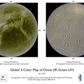 Global map of Dione