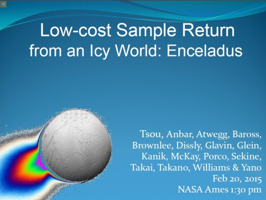 Enceladus sample return