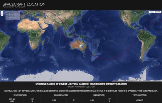 Spacecraft location