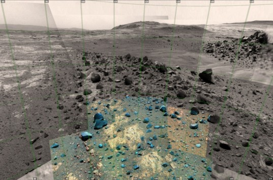 View from Opportunity looking east, sol 4037