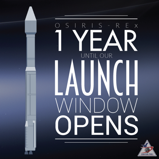 OSIRIS-REx one year to launch window