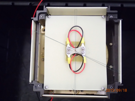 LightSail dual burn wire testing mockup (view 1)