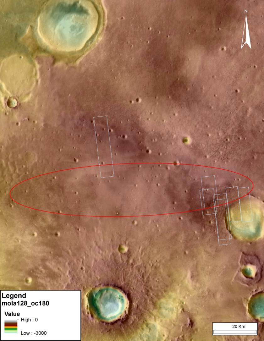 ExoMars 2016 landing site