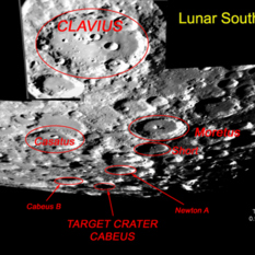 Lunar south pole, LCROSS' target