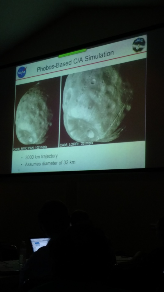 Using Phobos to simulate what New Horizons will see at its KBO target