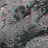 3D route map for Curiosity: Across the Bagnold dune field, sols 1153-1417