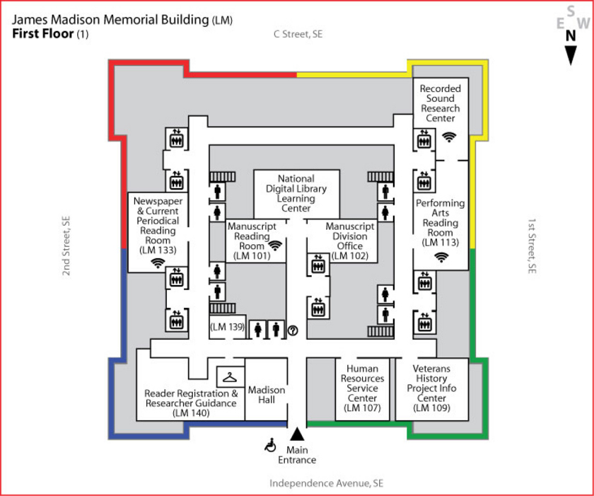James Madison Memorial Building - First Floor Layout