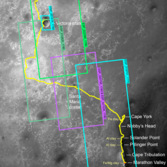 HiRISE digital terrain models (DTMs) and anaglyph images over the Opportunity field site