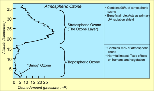 Types of atmospheric ozone